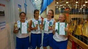 az U 14-es 3 : 3 bajnokság 2. helyezett csapat.